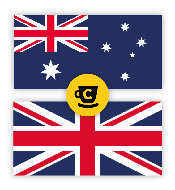 AU and UK flags